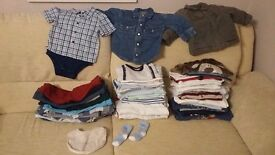 6-9 months baby clothing - 55 pices (boy)