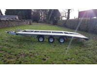 CAR TRANSPORTER TRAILER 3500KG NEW 16ft x 7ft 6 WHEELER TRAILER TRIPLE AXLE