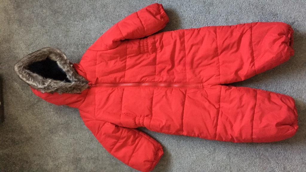 Next Red Snow Suit age 1.5-2