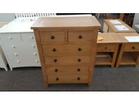 Julian Bowen Marlborough Oak 4+2 Drawer Chest Can Deliver