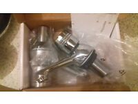 Plumbsure taps. Brand new in box inc-waste pipe.