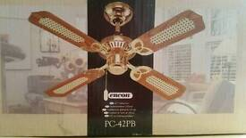 "BRAND NEW Traditional 42"" ceiling fan wooden style. SEALED IN BOX"