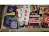 Matchboxes and labels, under 1000, assorted