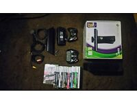 Xbox 360 Bundle - Kinect, games, accessories