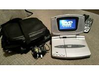 Silver Portable DVD Player