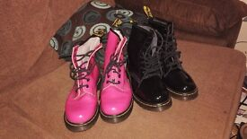 Two pairs of Doc Martins