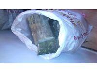 Seasoned log