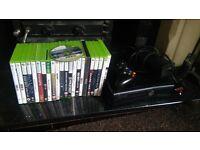XBox 360 Slim 250 GB & 22 Games