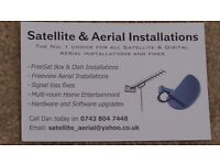 SATELLITE DISH FOR SALE, FITTING AVAILABLE; POLESAT, FRENCH, ARABIC, GERMAN, SPANISH CHANNELS