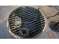 Water feature basin, pump, grid and stone