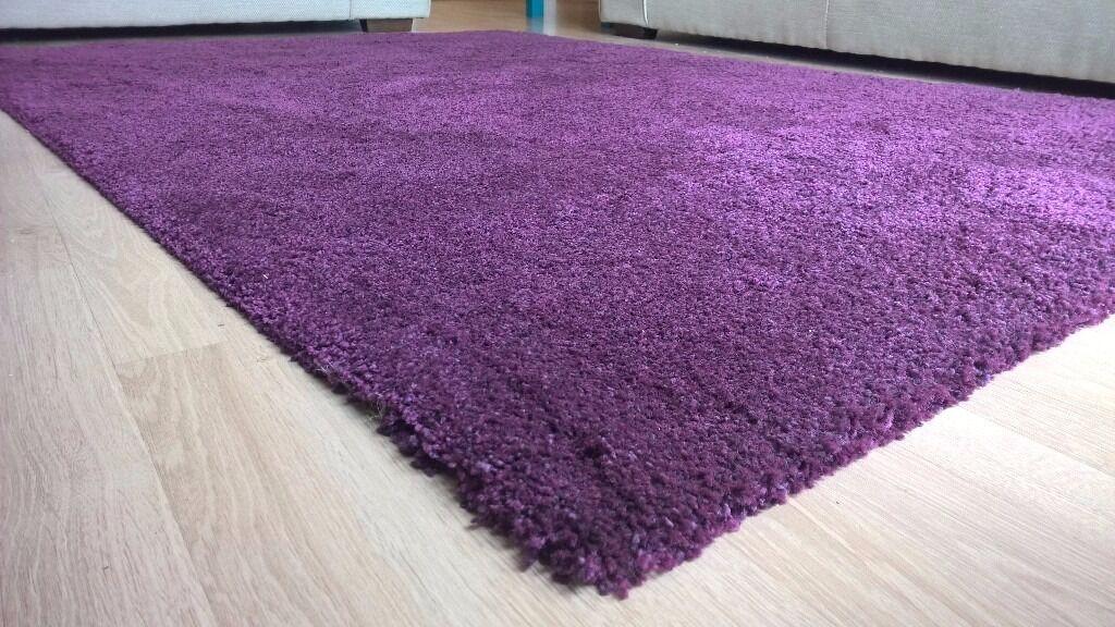 rug ikea adum purple in perfect conditions in clifton