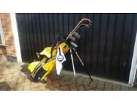 USA kids golf clubs and bag
