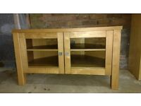 Wood & glass TV stand/table
