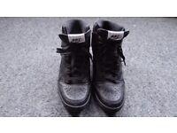 Black Nike Hi-top Wedge heel sneakers UK5