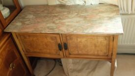 Antique marble top bedroom washstand