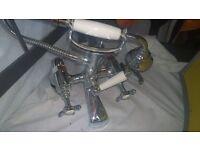 Bristan chrome plated pillar bath/shower mixer taps