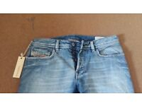Diesel Zathan Jeans Distressed Size 30 x 32 Wash 71J Made in Italy