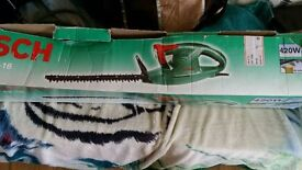 Bosch hedge trimmer boxed as new