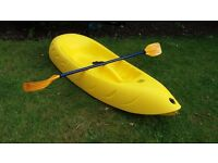 Osprey 'Kiddy' Sit-on-top Kayak and paddle
