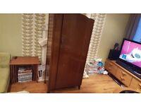 Vintage Retro Wardrobe Dresser Small 1 Door Shelving Lubus Maker