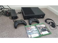 Xbox 1 one black games consoles with games 500MB Call of duty