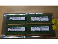Crucial CT25664BA1339 4 GB ( 2 x 2GB), PC3-10600 DDR3-1333 DDR3 RAM