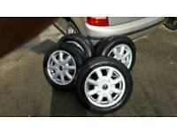 "Mini one alloy wheels. 15"""