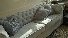 Sofa bed chesterfield style