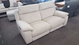 Furniture Village Starlight Express 3 Seater Fabric Electric Recliner Sofa Can Deliver