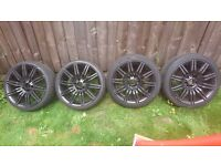 Bmw 19 spider alloys staggered swap 4x100 or cash