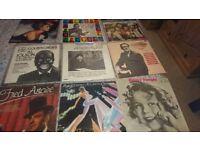 Numerous vinyl albums 45