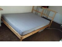 IKEA DOUBLE WITH MATTRESS IN VERY GOOD CONDITION *** STANDARD DOUBLE