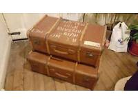Vintage steamer trunks