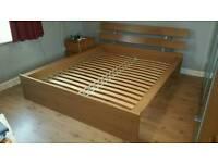 Ikea Hopen Kingsize bed frame with Sultan Lien sprung slats