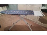 LARGE IRONING BOARD, EX CONDITION UNDER WIRE SHELF & LARGE IRON STAND FITS STEAM BOX