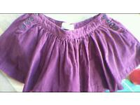 Jack Wills cord short skirt Sz 12