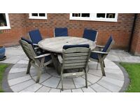 Suncoast Kwila Garden Patio Table & Six Chairs