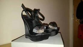 Black Carvela peep toe heels size 5