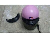 open face scooter ,motorcycle helmet retro pink