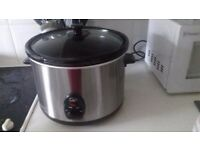 Quest Stainless Steel Slow Cooker, 5.5 Litre