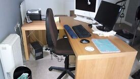 Office Furniture and 2 office chairs