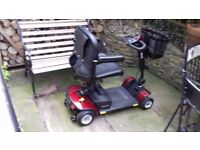Mobility Scooter - 'Sightseer' 12V - Red - used only once - showroom condition