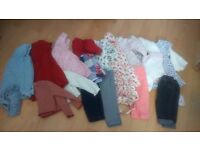 9 baby girl outfits. 3 from next.