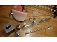 Bathroom accessories mirror rails lights etc plus shoe racks