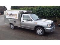 Hot Cold Food Catering Van For Sale (Jiffy Van) Nissan Pick-Up. 8 Month MOT