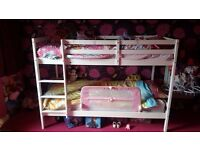 White Wooden Bunk Beds / CAN BE SPLIT INTO TWO SINGLE BEDS MUST GO ASAP