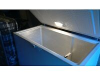 "Chest freezer medium size 44"" wide 2 compartments inside light fast freeze gwo can deliver local"