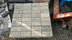 BLOCK PAVERS (USED) BUFF COLOUR - 1000+ AVAILABLE - 60MM