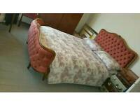 French Corbeille Pink Bed