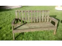 Garden bench flower feature project